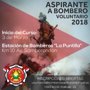 Curso de Aspirantes a Bomberos Voluntarios Feb. 2018