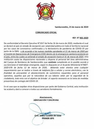 Comunicado 2 Extensión de Teletrabajo